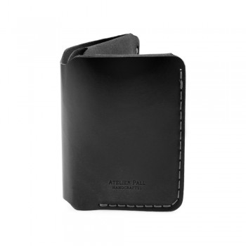 Vertical Bifold Wallet in Black