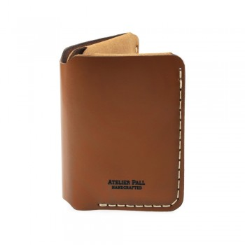 Vertical Bifold Wallet in Brown