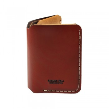 Vertical Bifold Wallet in Burgundy