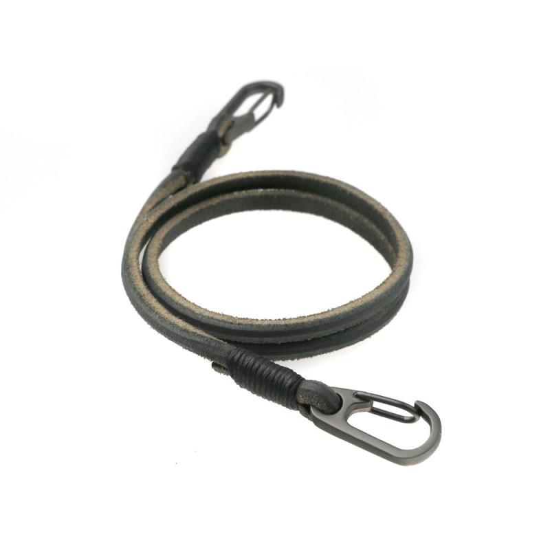 Fishhook leather wallet chain