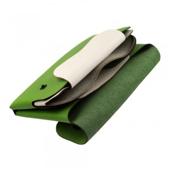 Green and white women wallet