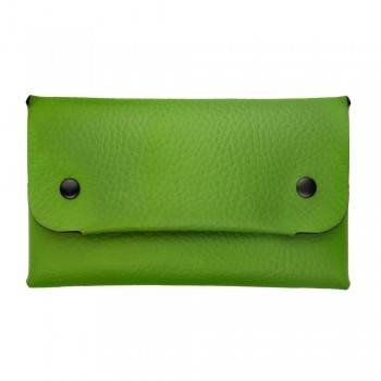 Women Long Wallet in Lime Green