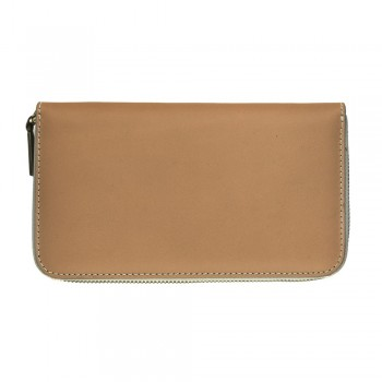Women Zip Wallet in Beige