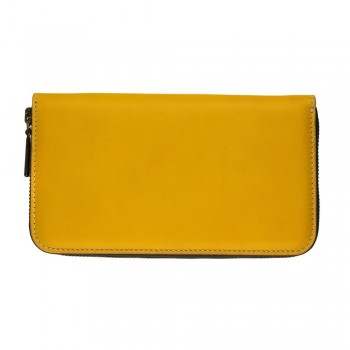 Women Zip Wallet in Yellow