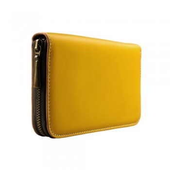 Yellow leather wallet