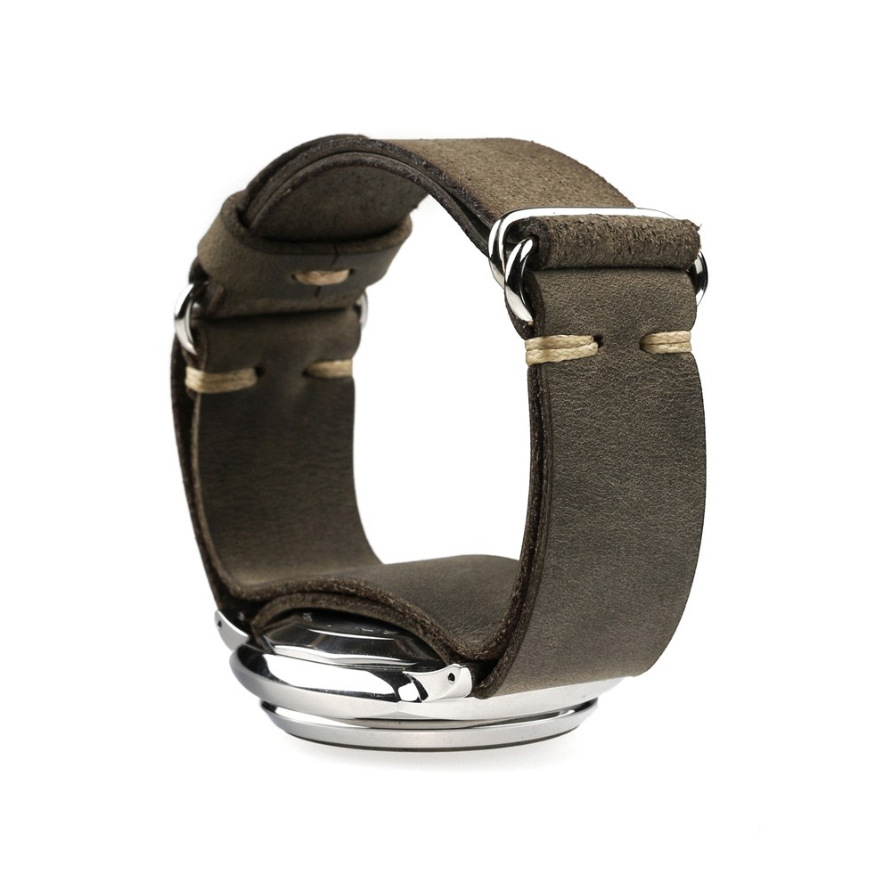 Military watch band no buckle