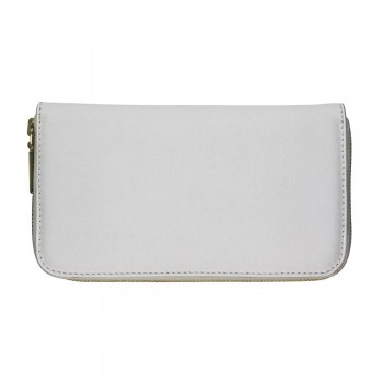 Women Zip Wallet in White
