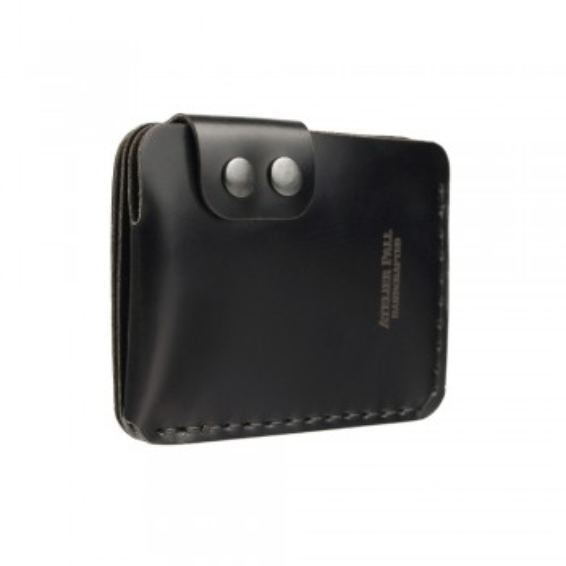 Double Snap Wallet in Black