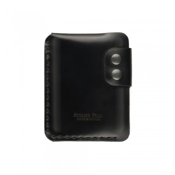 Black vertical minimal wallet