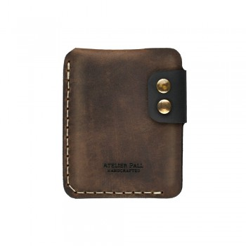 Double snap slim wallet