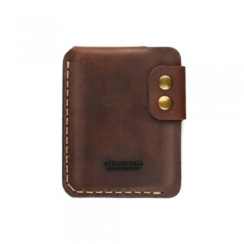 Burgundy slim wallet for men