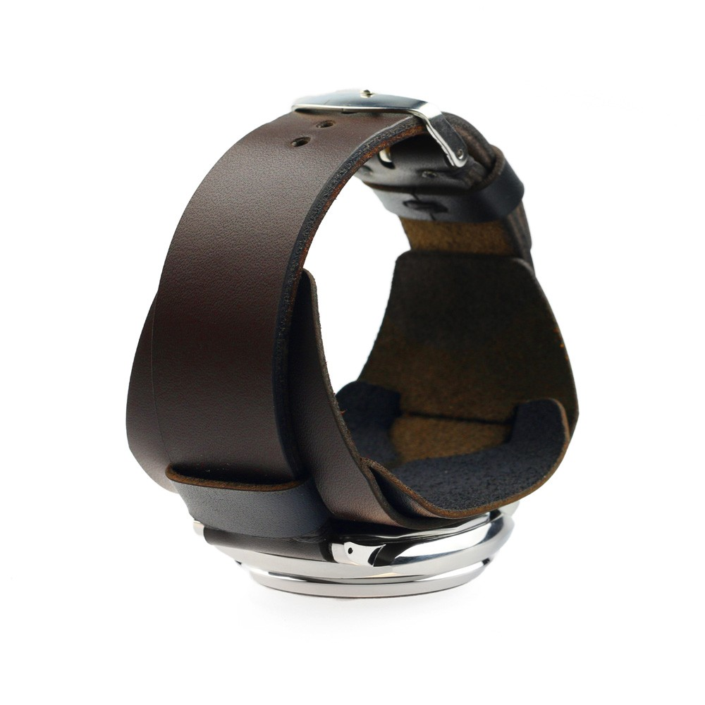 Retro Watch Cuff in Dark Brown