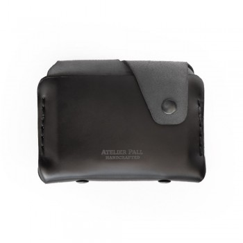 Side Snap Wallet in Black