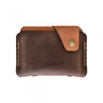 Side Snap Wallet in Brown