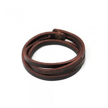 Engraved Bracelet in Brown