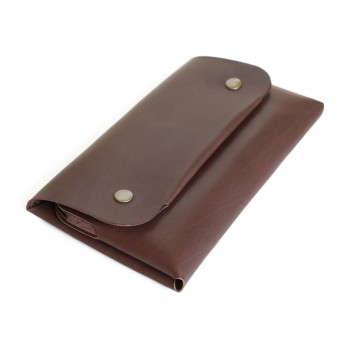 Women Long Wallet in Brown