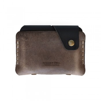 Side Snap Wallet in Khaki