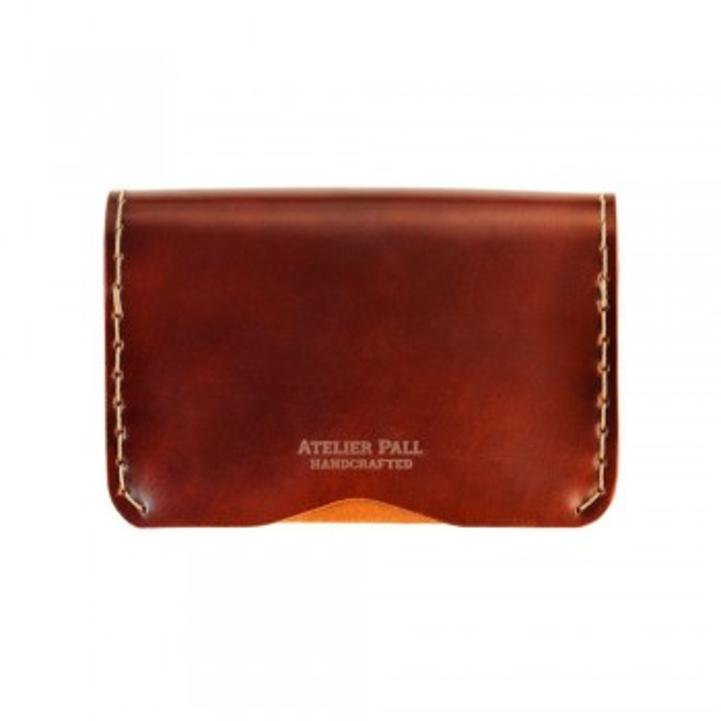 Slim Fold Wallet in Burgundy