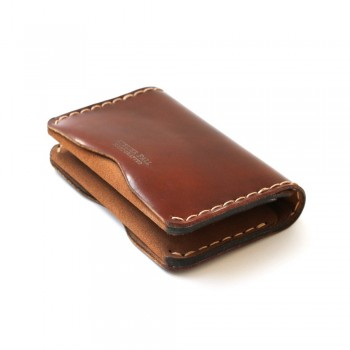 Slim Fold Wallet in Burgundy