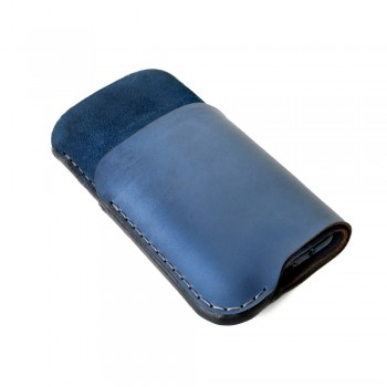 iPhone Card Sleeve in Jeans Blue