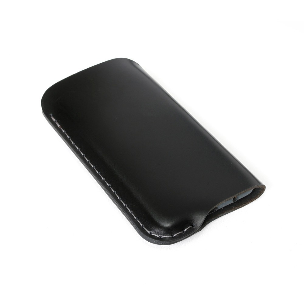 iPhone leather sleeve in black