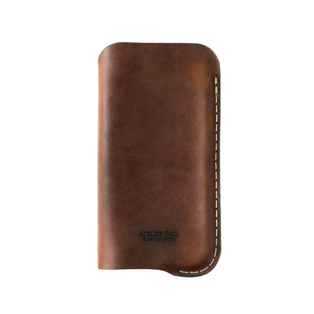 iPhone leather sleeve in brown