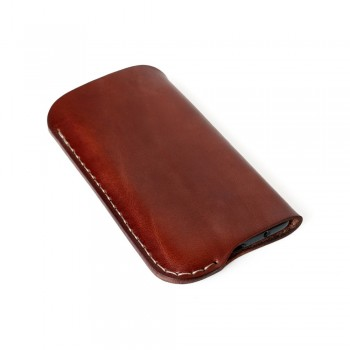 iPhone leather sleeve in burgundy