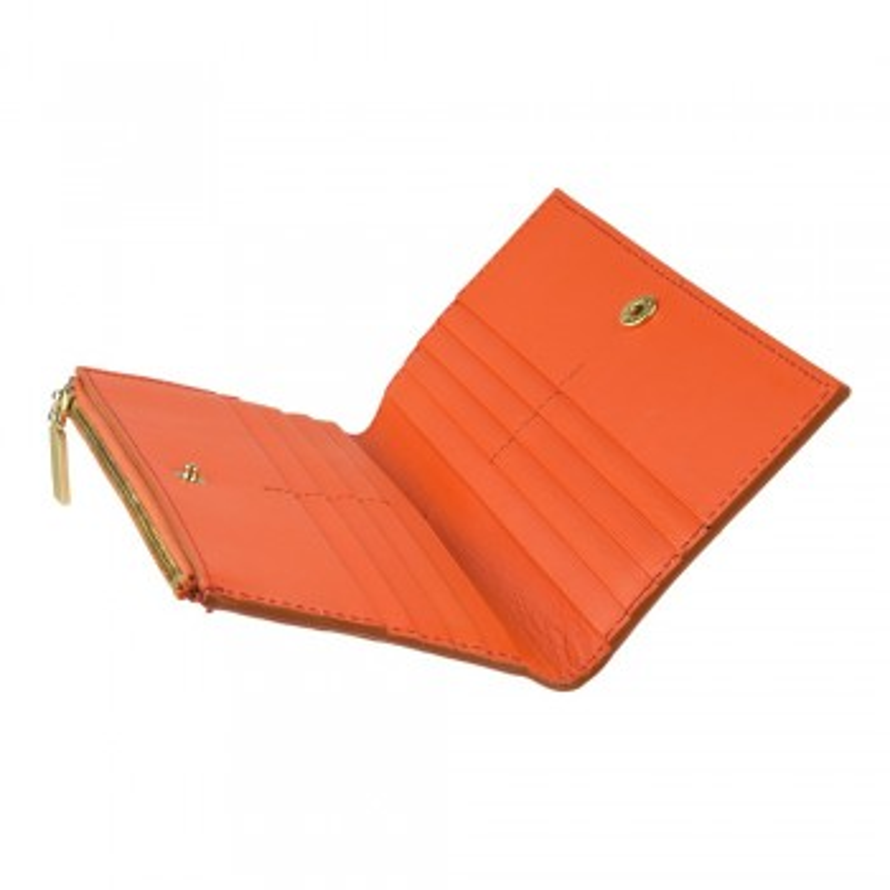 Orange hand clutch wallet