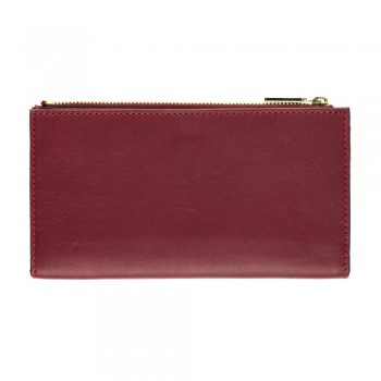 Women Card Wallet in Burgundy