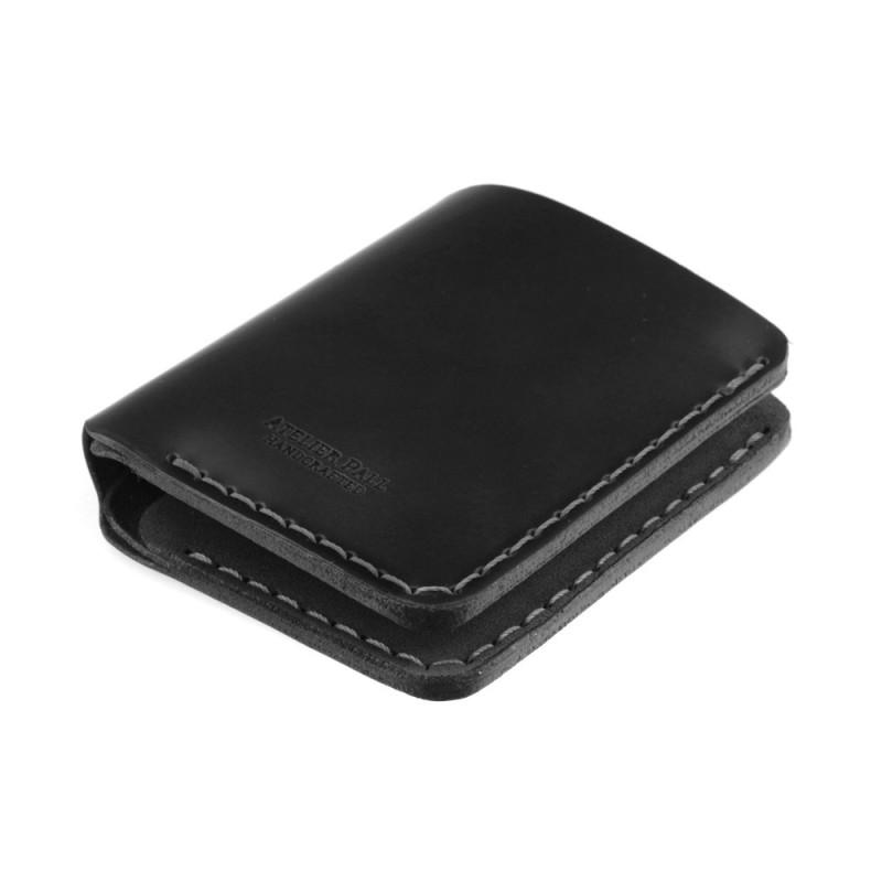 Handmade minimal wallet in black