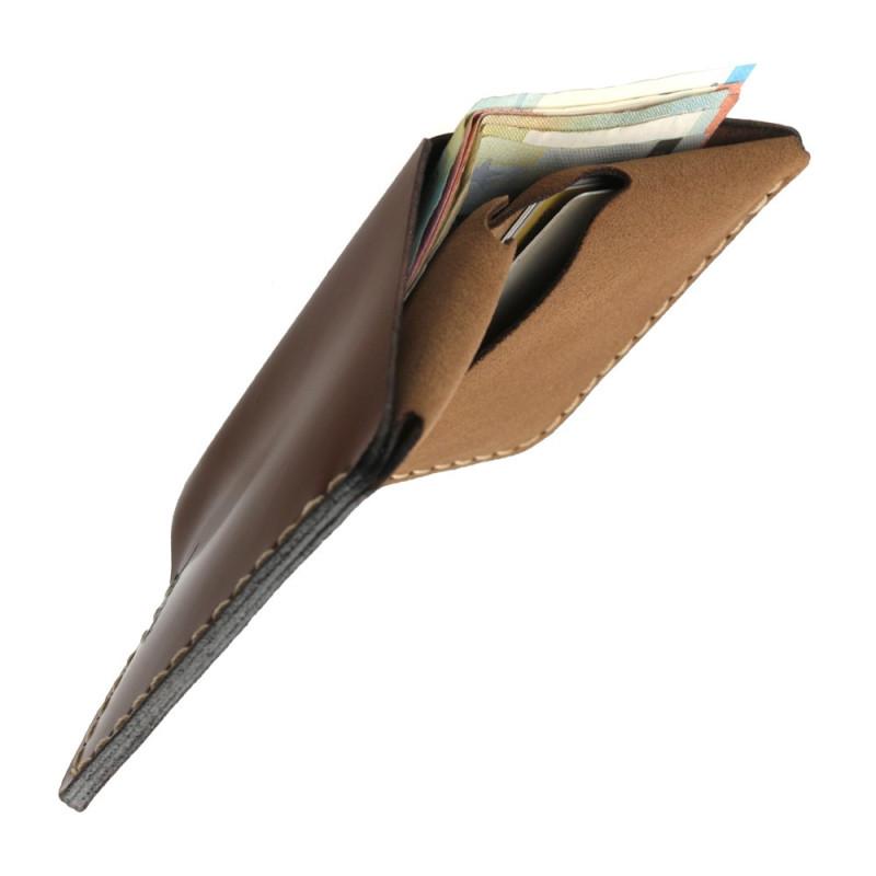 Euro bills wallet in brown