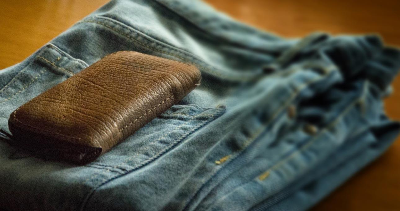 Brown Zip Wallet